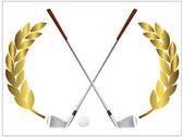 Golfklubbor — Stockvektor