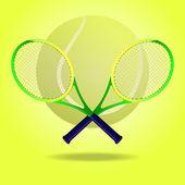 Racketar för tennis — Stockvektor