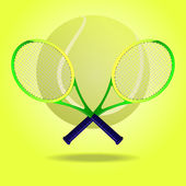 Tennis rackets — Vettoriale Stock