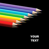Vector set of colored pencils — Vector de stock