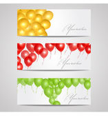 Vector banners with balloons — Vector de stock