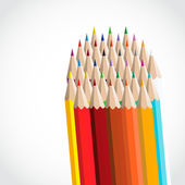 Vector color pencils — Stock Vector