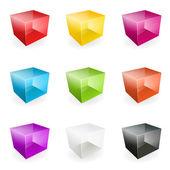 Vector glass cubes — Stock Vector
