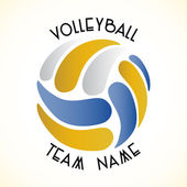Volleyball icon — Vettoriale Stock