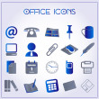 Office icons — Vector de stock #16957777