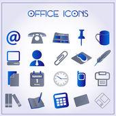 Biuro ikony — Wektor stockowy