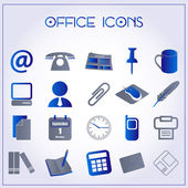 Icone ufficio — Vettoriale Stock