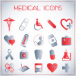 Medical icons — Vettoriale Stock #16960605