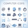 Computer icons — Vector de stock #16961751