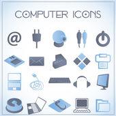 Computer pictogrammen — Stok Vektör