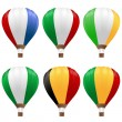 Hot air balloons set — Imagen vectorial