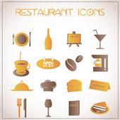 Icônes de restaurant — Vecteur