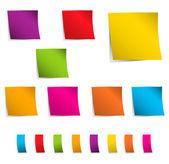 Renkli yapışkan notlar — Stok Vektör