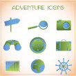 Adventure icons — Stock Vector