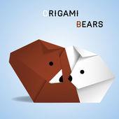 Orsi origami — Vettoriale Stock