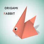 Origami lapin — Vecteur