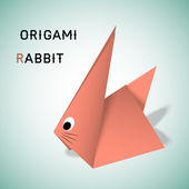 Rabbit origami — Vector de stock