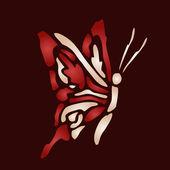 Mariposa roja — Vector de stock