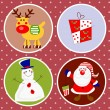 Christmas characters — Vector de stock #32126111