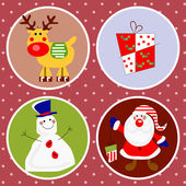 Christmas characters — Vetorial Stock