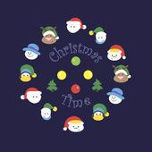 クリスマスの時間 — ストックベクタ