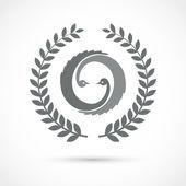 Simbolo di uccello vettore — Vettoriale Stock