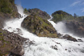 Låtefossen waterfall — Stock Photo