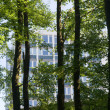 Building behind Trees - Stock Photo
