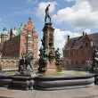 Fountain  on Frederiksborg castle - Stock Photo