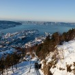 Bergen City in the winter — Stock Photo