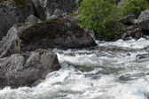 Rivers and waterfalls in Norway — Stock Photo