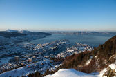 冬のベルゲン市 — ストック写真