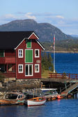 Norwegian boat-house — Stock Photo