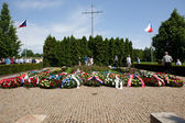 Lidice Memorial and wreath closure — Stockfoto