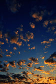 Cloudy sky at sunrise — Stock Photo