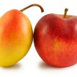 Yellow pear and red apple — Stock Photo #15633671
