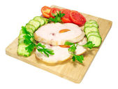 Ham with vegetables — Stock Photo
