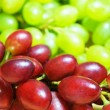 Stock Photo: Red and green grapes