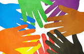 Multicolored hands — Stock Photo