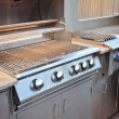 Clean Outdoor Kitchen Grill — Stock Photo