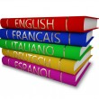 Stock Photo: Language books