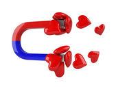 Heart magnet — Stock Photo