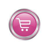 Pink button basket — Stock Photo