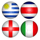 World cup 2014 group D — Stock Photo