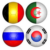 World cup 2014 group H — Stock Photo