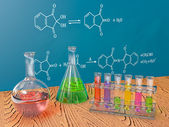 Flasks chemistry — Stock Photo