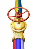 Gold valve — Stock Photo