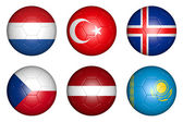 Balls with flags — Stock Photo