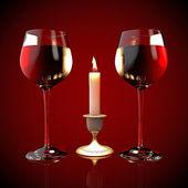 赤ワインのグラス — ストック写真
