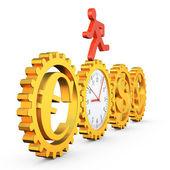 Gear clock — Stock Photo